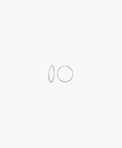 Серьги-кольца Hoops Endless silver 8 мм