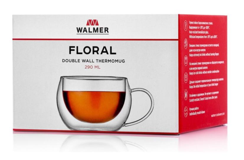 Термокружка Walmer Floral, 0.29л
