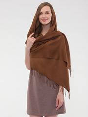 Шарф женский коричневый aksisur теплая пашмина 03