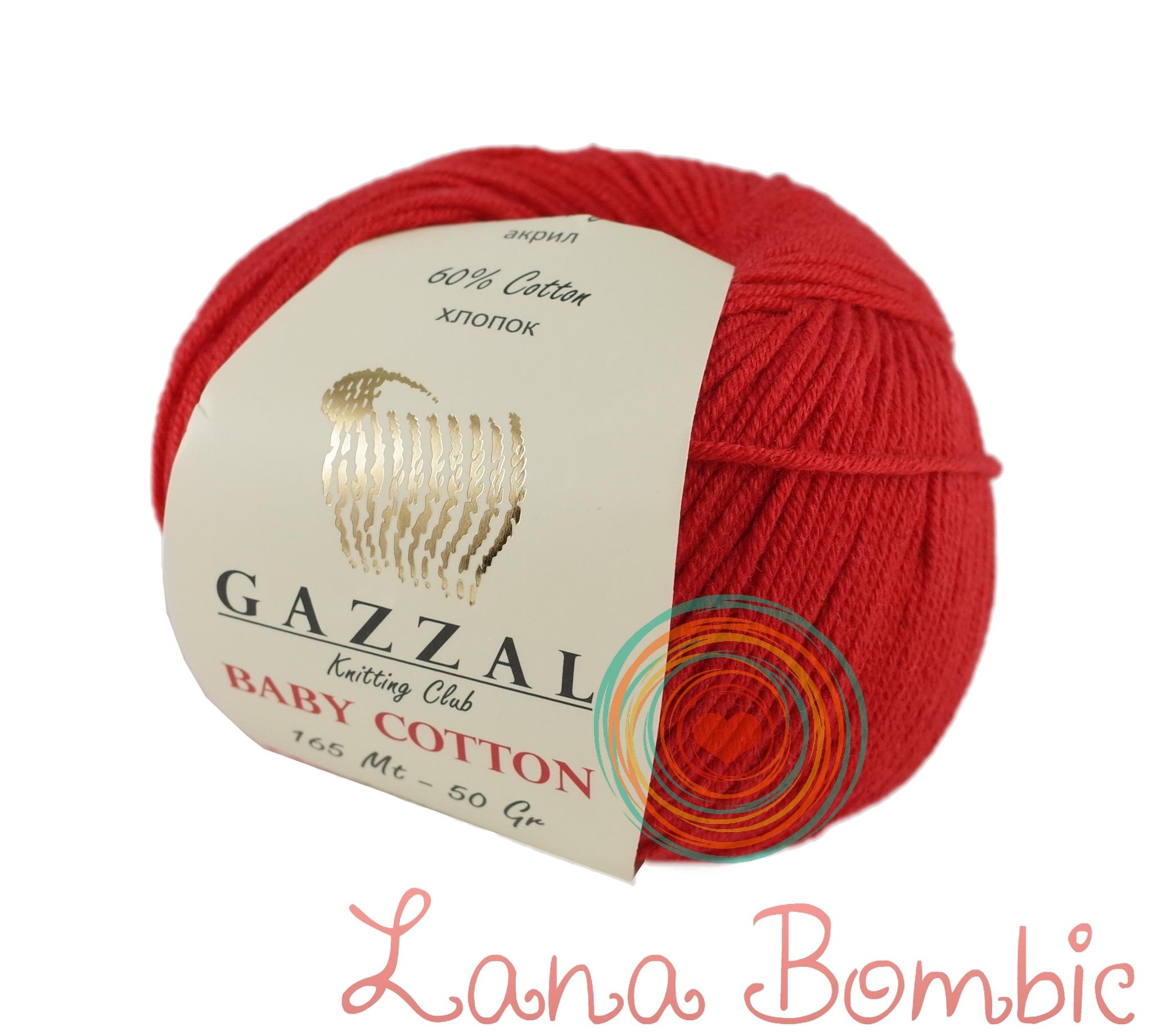Пряжа Gazzal Baby Cotton 3443 красный мак