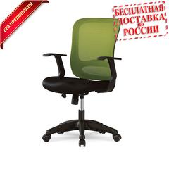 Компьютерный стул черно-зеленый Smart 1801J