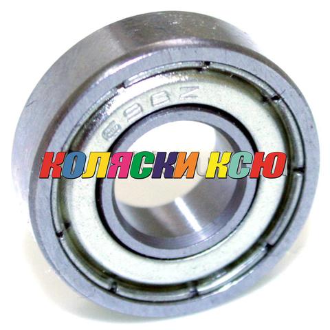 Подшипник 698 ZZ железная заглушка (вн.диаметр 8мм, наруж диам 19мм, ширина 6мм) №009027 для детской коляски