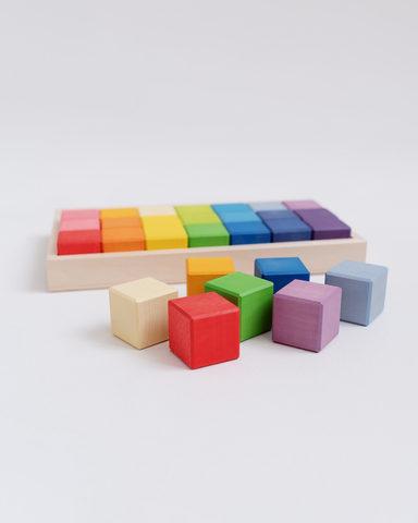 Кубики 28шт на подносе