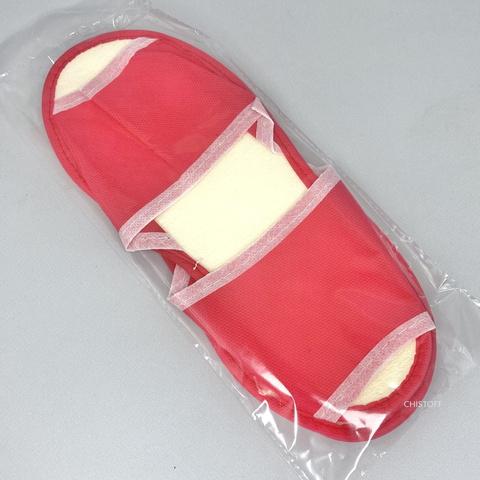 Тапочки одноразовые красные