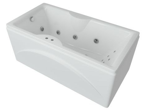 Ванна акриловая  Aquatek Феникс 180х85cм. на каркасе и сливом-переливом.