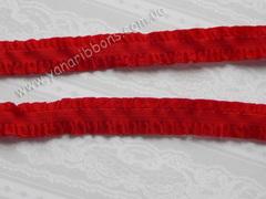 Резинка с волнистыми краями красная ширина 14 мм