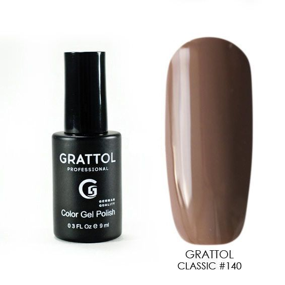 Classic Collection Grattol, Гель-лак 140, Corretto, 9 мл 140.jpg