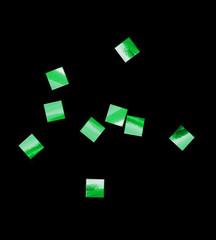 Конфетти металлизированное, Квадрат, Зеленое, 6*6мм, / 100г. /