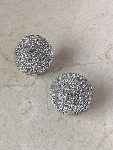 Серьги Лотония из цирконов, серебряный цвет