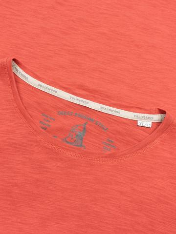 Мужская футболка «Великоросс» терракотового цвета круглый ворот