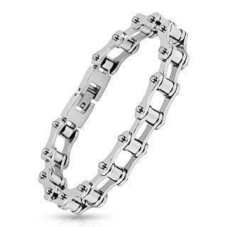 Стильный модный стальной мужской браслет в виде велочипедной цепи Spikes SBS-0625
