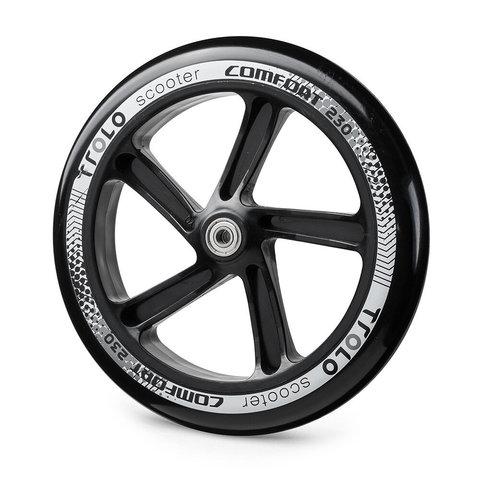 Колесо с подшипником Trolo Comfort 230 мм черно-серое купить