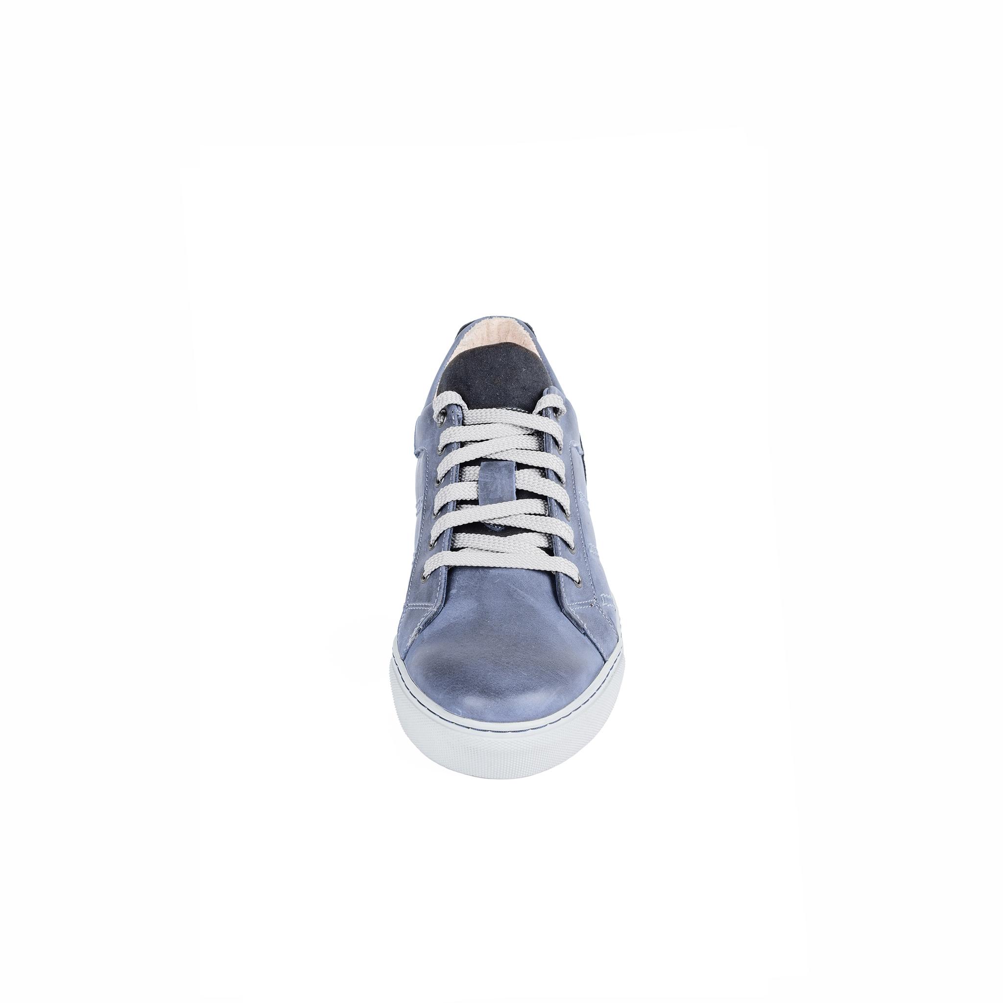 752308 Полуботинки мужские синие больших размеров марки Делфино