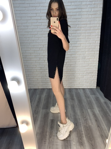 свободное черное платье оптом
