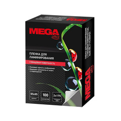 Пленка для ламинирования Promega office 65x95 мм 175 мкм глянцевая (100 штук в упаковке)