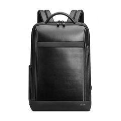 Рюкзак для бизнеса BOPAI 61-67011 нат.кожа черный
