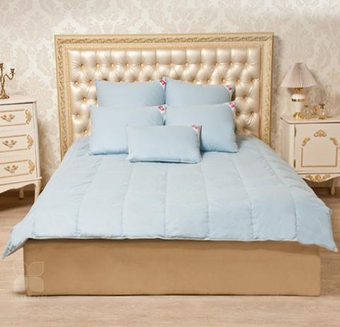 Одеяло Камелия. Пух 1 категории .Стандартное. цвет голубой