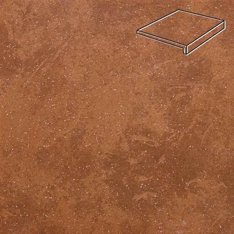 Stroeher - Keraplatte Roccia 841 rosso 294x175x52x10 артикул 4817 - Клинкерная ступень, прямой угол