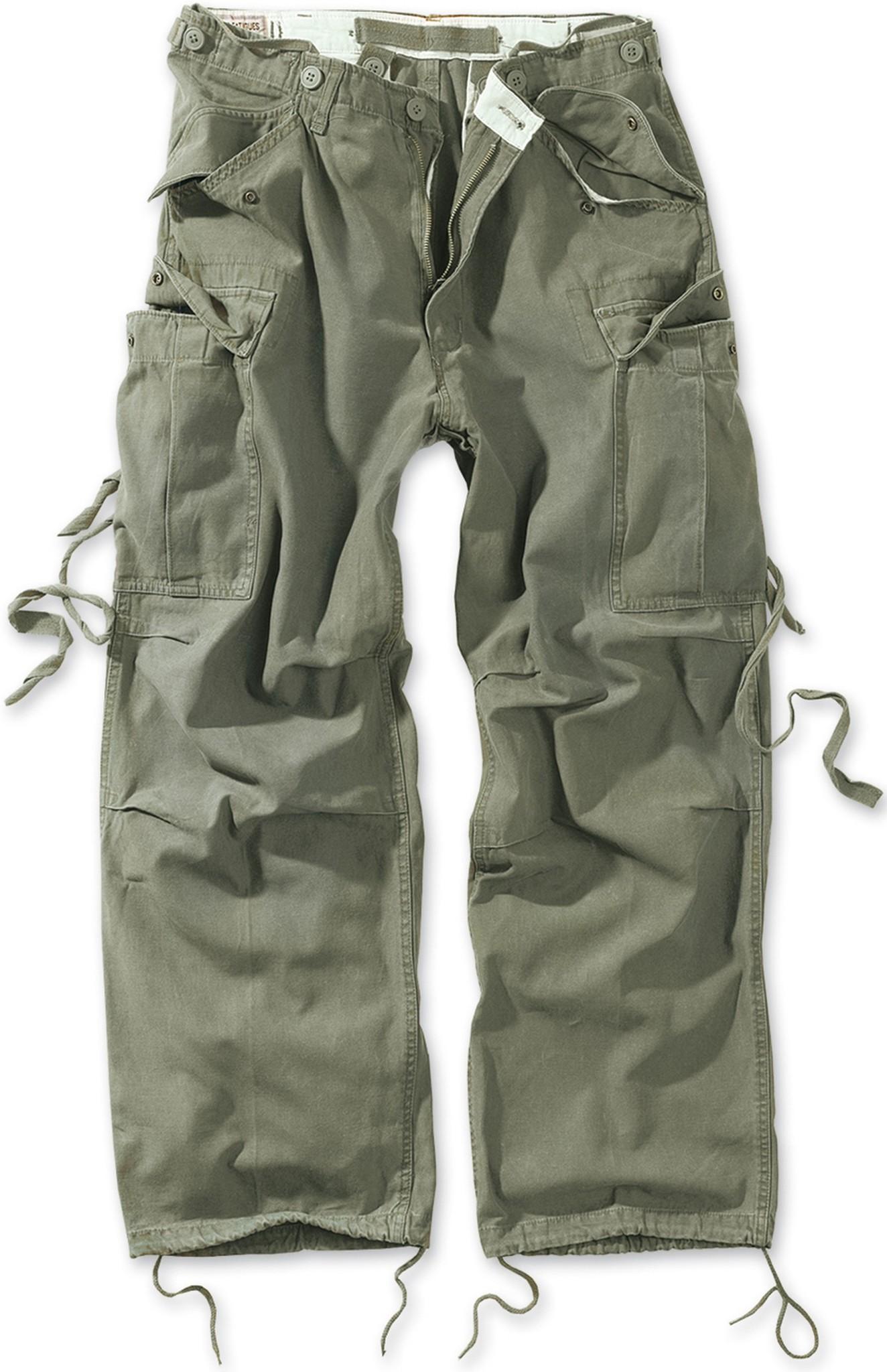Брюки карго  Surplus Vintage Fatigues Trousers (олива - olive)