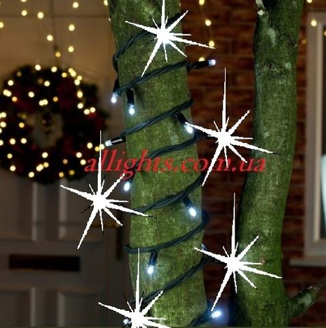 Гирлянда нить на улицу на дерево string led купить фасад