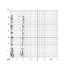 94022211 - Серьги длинные из серебра с фианитами