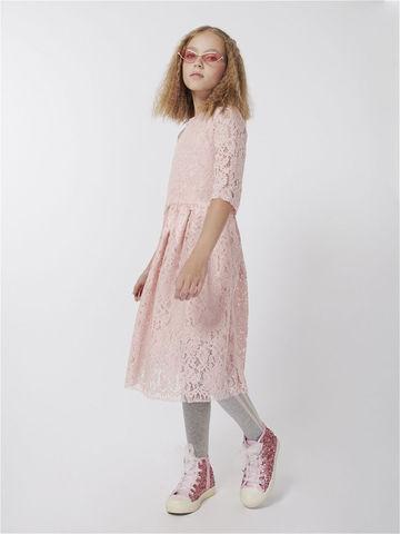 Розовое платье из гипюра (арт.39071)