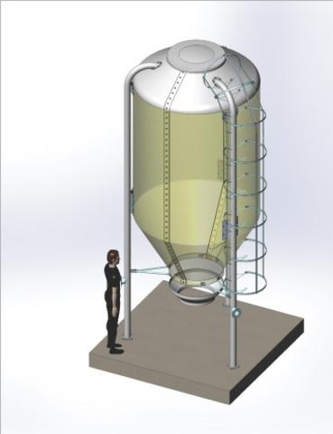 3,5м3 | Бункер из стекловолокна для хранения и подачи комбикорма