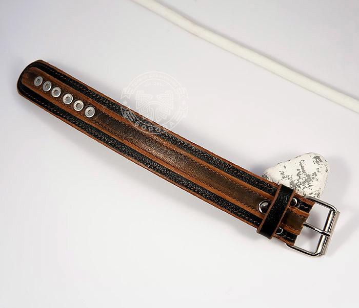 BL445-2 Оригинальный мужской браслет из натуральной кожи ручной работы фото 02