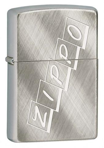 Зажигалка Zippo, латунь с покрытием Brushed Chrome, серебристая, матовая, 36x12x56 мм123