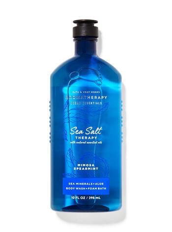 Гель для душа  Bath&BodyWorks Aromatherapy Sea Salt Mimosa + Spearmint 295 мл