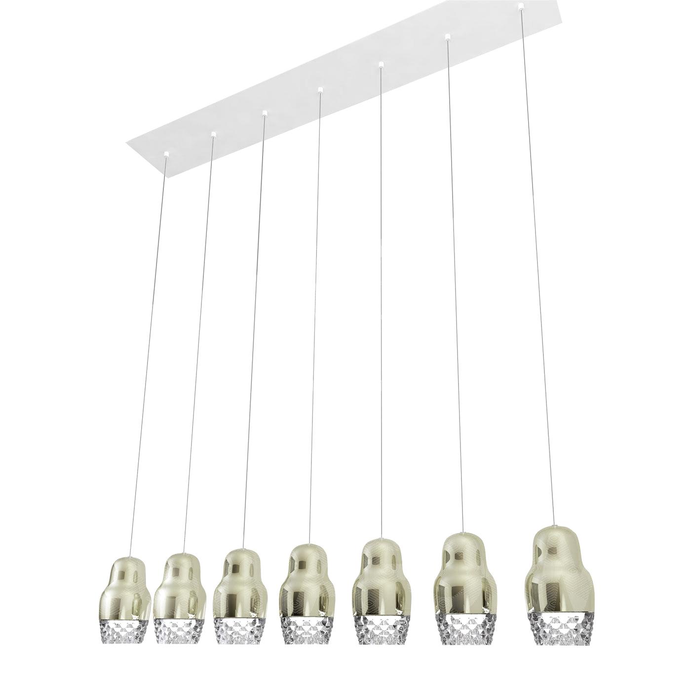 Подвесной светильник копия FEDORA 7 by AXO LIGHT  (серебряный)
