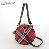 Сумка Саломея 537 шотландский красный + черный