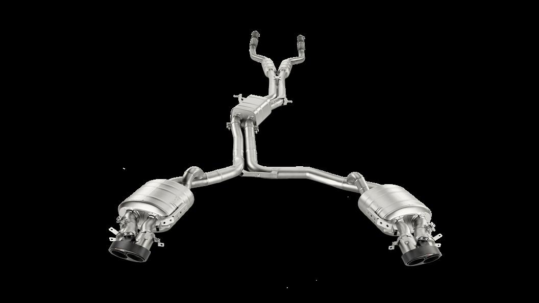 Выхлопная система AKRAPOVIC для AUDI RS6 (C7)