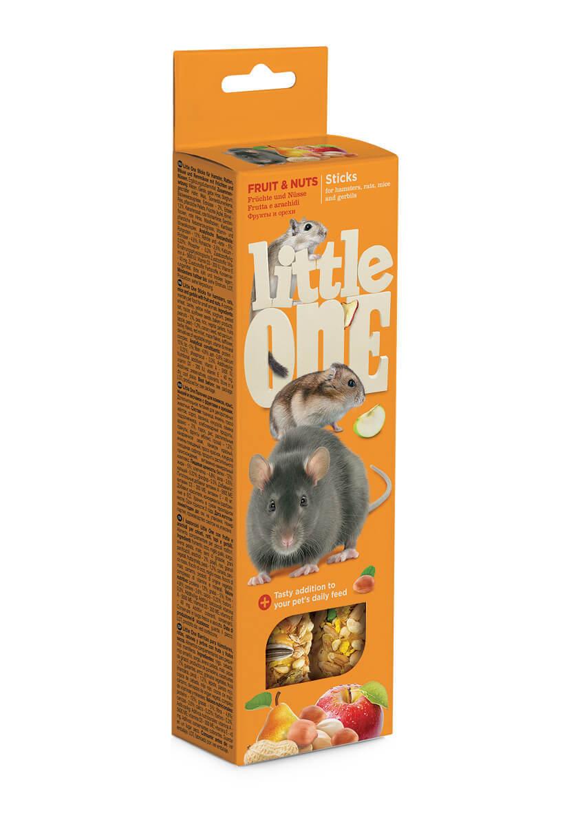 Лакомства Палочки Little One для хомяков, крыс, мышей, песчанок с фруктами и орехами (2х55 гр) Sticks_fruit_nuts.jpg