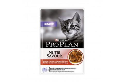 Консервы для котят Purina Pro Plan Junior, говядина в соусе,  85 г