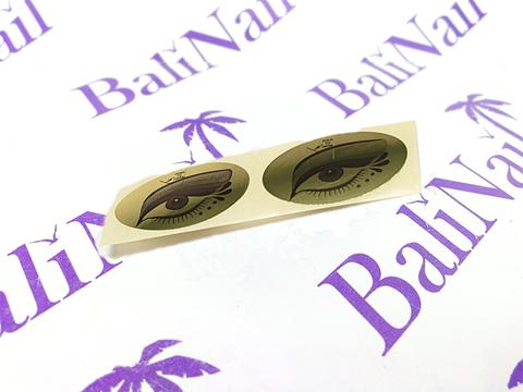 Наклейка на глаза для солярия (золото) 100 пар
