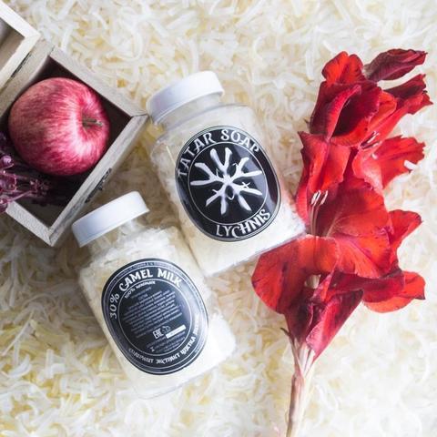 Татарское мыло ручной работы «Lychnis «White flower»