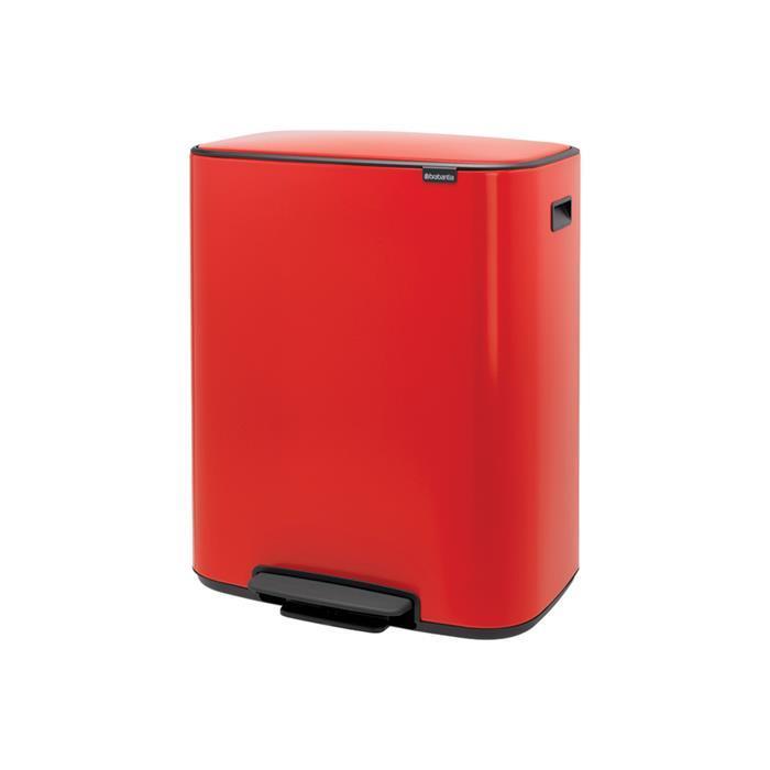Мусорный бак Bo с педалью (2 x 30 л), Пламенно-красный, арт. 211522 - фото 1