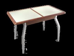 Обеденный раздвижной стол из мдф и искусственного камня
