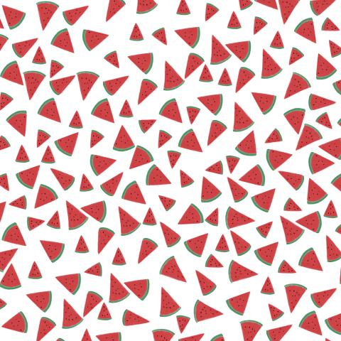 Красный арбуз на белом фоне
