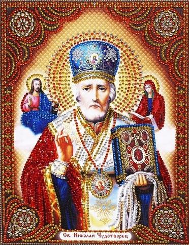 Алмазная Мозаика 27х33 Святой Николай Чудотворец (арт. TC6012)