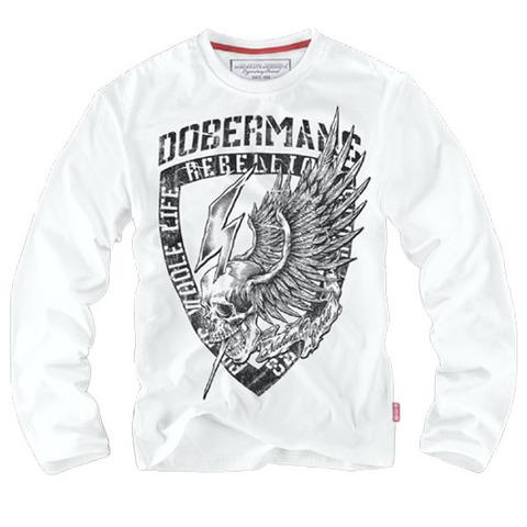 Лонгслив Dobermans Aggressive Dobermans, белый (LS164)