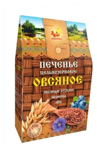 Печенье Дивинка Овсяное цельноз на фр Льн/Отруби/Черника 300г