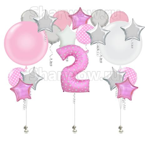 Композиция из воздушных шаров День Рождения Дочки