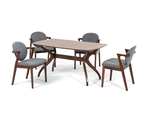 Обеденный комплект стол Pinang + 4 кресла Muar