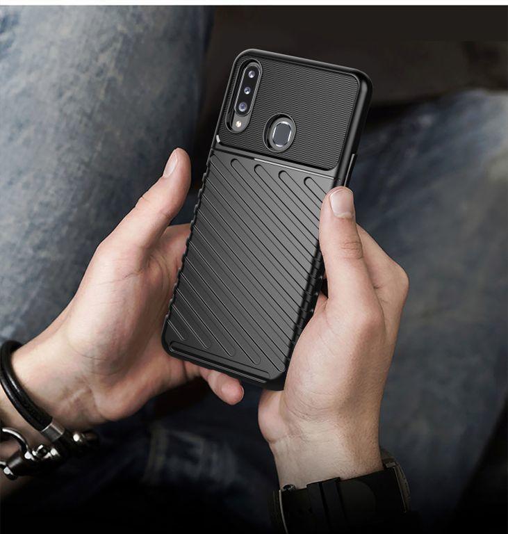 Чехол для Samsung Galaxy A20S цвет Black (черный), серия Onyx от Caseport