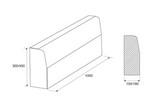 Бордюрный камень (дорожный) бр 100.30.15, B35 (тяжелый бетон)