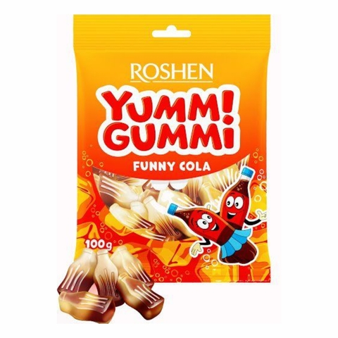 Конфеты ROSHEN Yummi Gummi Funny Cola желейные 100 г УКРАИНА