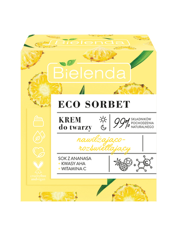 ECO SORBET Pineapple Крем для лица увлажняющий с эффектом осветления, 50 мл