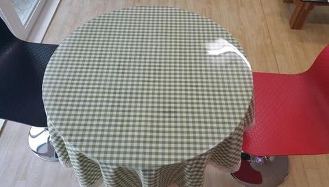 Скатерть прозрачная круглая 60 см толщина 2 мм